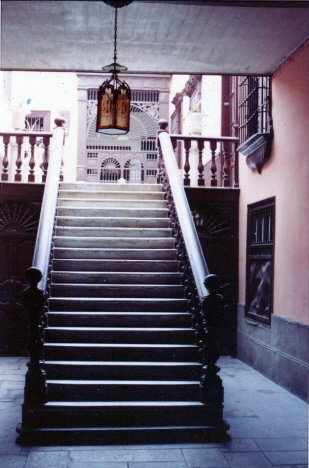 Ingångstrappa på en privat gård, Lima (1969)