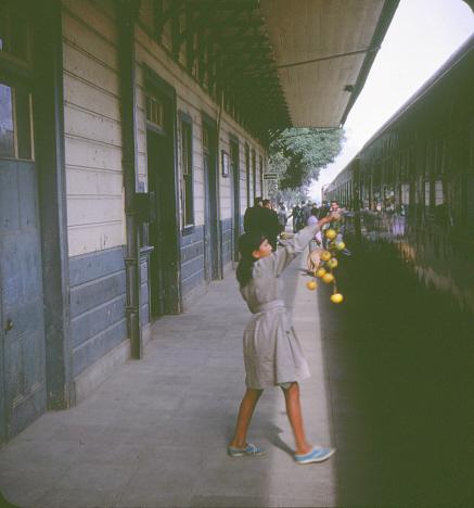 Vårt tåg vid ankomsten, S:t Bartolomé (1969)