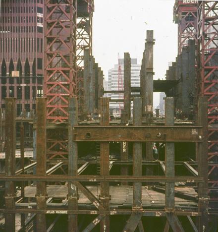 Byggandet av Världshandelscentret, New York (okt 1969)
