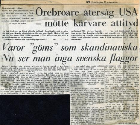 Pappas intervju i Nerikes Allehanda, 1969 (tidning)