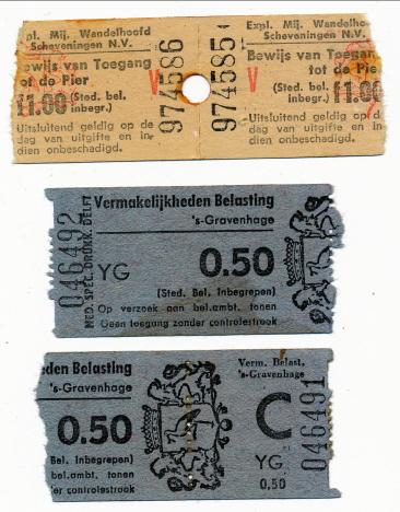 Biljetterna för piren och pirtornet, Scheveningen (1970)