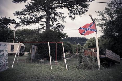 Ett av många ställen med vajande konfederationsflaggor,Ellijay (internet)