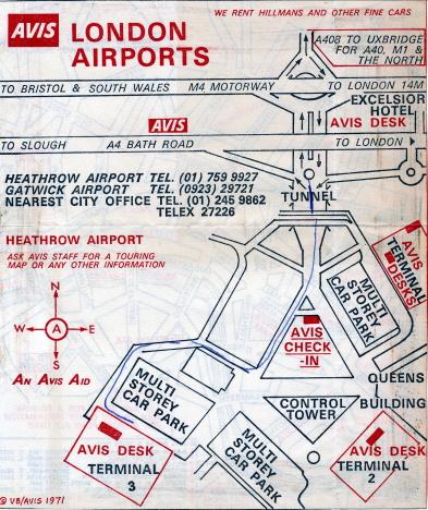 Inritad väg för oss att hitta ut, Heathrow (1971)