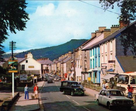 En gata, Llanberis, Wales, 1971 (vykort)