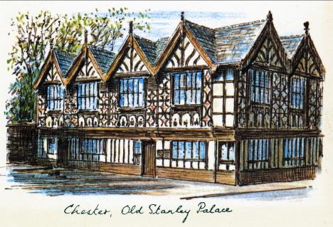 Stanleypalatset som vi inte kom att se, Chester, 1971 (vykort)