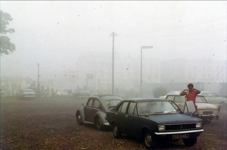Ed vid vår parkerade bil, London (1971)