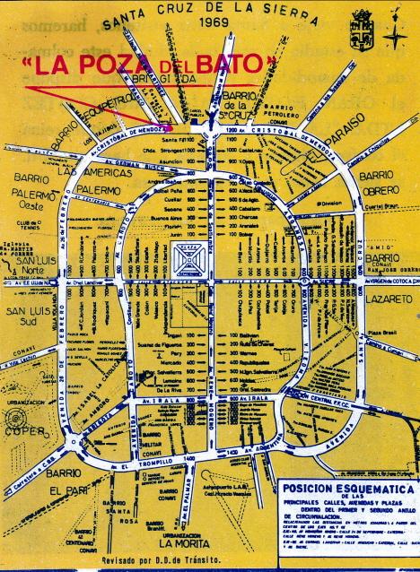 Hotellets karta över staden, S:ta Korset, 1973 (broschyr)